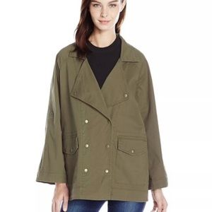 Kensie Jeans Green Double Breasted Utility Jacket